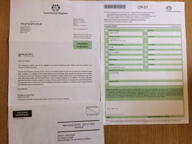 Scam document